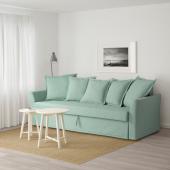 ХОЛЬМСУНД 3-местный диван-кровать, Нордвалла светло-зеленый