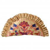 КАРИСМАТИСК Подушка, цветочный орнамент бежевый, 58x31 см