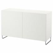 БЕСТО Комбинация для хранения с дверцами, белый, лаксвикен/суларп белый, 120x40x74 см