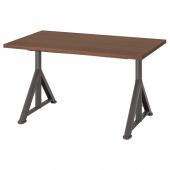 ИДОСЕН Письменный стол, коричневый, темно-серый, 120x70 см