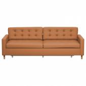 ЛАНДСКРУНА 3-местный диван-кровать, Гранн, Бумстад золотисто-коричневый/дерево