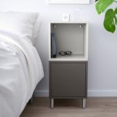 ЭКЕТ Комбинация шкафов с ножками, темно-серый, светло-серый, 35x35x80 см