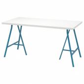 ЛИННМОН / ЛЕРБЕРГ Стол, белый, синий, 150x75 см