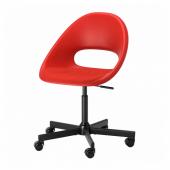 ЭЛДБЕРГЕТ / МАЛЬСКЭР Рабочее кресло c подушкой, красный, черный