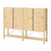 ИВАР 2 секции/полки/шкаф, сосна, 174x30x124 см