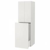 СМОСТАД Гардроб с выдвижным модулем, белый белый, с платяной штангой, 60x55x196 см