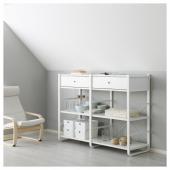 ЭЛВАРЛИ 2 секции, белый, 165x55x126 см
