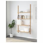 СВАЛЬНЭС Комбинация полок, бамбук, 86x25x176 см