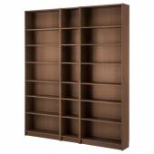 БИЛЛИ Стеллаж, коричневый ясеневый шпон, 200x28x237 см
