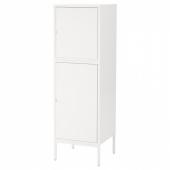 ХЭЛЛАН Комбинация для хранения с дверцами, белый, 45x47x142 см
