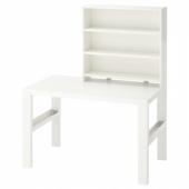 ПОЛЬ Письменн стол с полками, белый, 96x58 см