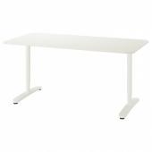 БЕКАНТ Письменный стол, белый, 160x80 см