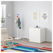 СТУВА / ФРИТИДС Модуль для игрушек, на колесиках, белый, белый, 60x50x64 см
