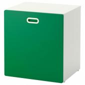 СТУВА / ФРИТИДС Модуль для игрушек, на колесиках, белый, зеленый, 60x50x64 см