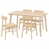 ЛИСАБО / РЁННИНГЕ Стол и 4 стула