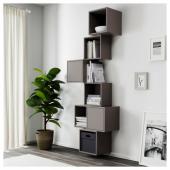 ЭКЕТ Комбинация настенных шкафов, темно-серый, 80x35x210 см
