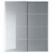 БЬЁРНОЙА Пара раздвижных дверей, серый с эффектом тонировки, 200x236 см
