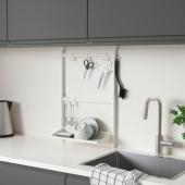 СУННЕРСТА Комплект кухонных аксессуаров, без сверления, сушилка/крючок