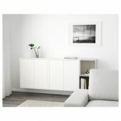 ЭКЕТ Комбинация настенных шкафов, белый/темно-серый, светло-серый, 175x25x70 см