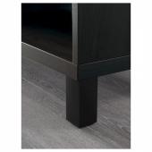 БЕСТО Шкаф, черно-коричневый, 60x40x202 см