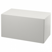 СМОСТАД Скамья с отделением для игрушек, белый, серый, 90x50x48 см