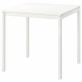 МЕЛЬТОРП Стол, белый, 75x75 см