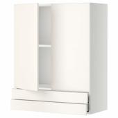 МЕТОД / МАКСИМЕРА Навесной шкаф/2дверцы/2ящика, белый, Веддинге белый, 80x100 см