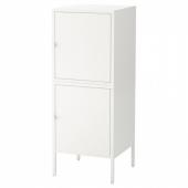 ХЭЛЛАН Комбинация для хранения с дверцами, белый, 45x47x117 см