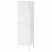 ХЭЛЛАН Комбинация для хранения с дверцами, белый, 45x47x167 см