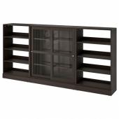 ХАВСТА Комбинация с раздвижными дверьми, темно-коричневый, 283x37x134 см