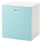 СТУВА / ФРИТИДС Модуль для игрушек, на колесиках, белый, голубой, 60x50x64 см