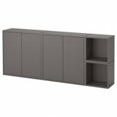 ЭКЕТ Комбинация настенных шкафов, темно-серый, 175x25x70 см