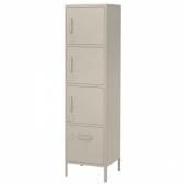 ИДОСЕН Высокий шкаф с электронным замком, бежевый, 45x172 см