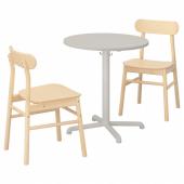 СТЕНСЕЛЕ / РЁННИНГЕ Стол и 2 стула, светло-серый, светло-серый береза, 70 см