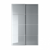 БЬЁРНОЙА Пара раздвижных дверей, серый с эффектом тонировки, 150x236 см