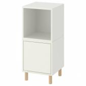 ЭКЕТ Комбинация шкафов с ножками, белый, дерево, 35x35x80 см