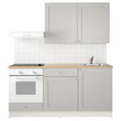 КНОКСХУЛЬТ Кухня, серый, 180x61x220 см