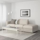 ВИМЛЕ 3-местный диван, с открытым торцом, Гуннаред бежевый