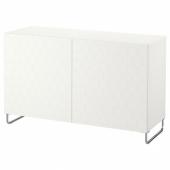 БЕСТО Комбинация для хранения с дверцами, белый, вассвикен/суларп белый, 120x40x74 см