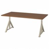 ИДОСЕН Письменный стол, коричневый, бежевый, 160x80 см