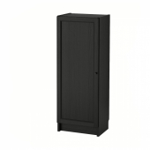БИЛЛИ / ОКСБЕРГ Стеллаж с дверью, черно-коричневый, 40x30x106 см