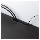 БЕСТО Тумба под ТВ, с дверцами, черно-коричневый, Глассвик дымчатое стекло, 180x42x38 см