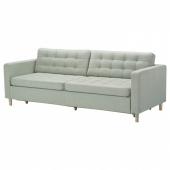 ЛАНДСКРУНА 3-местный диван-кровать, Гуннаред светло-зеленый/дерево