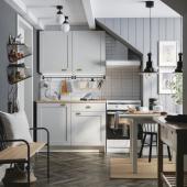 КНОКСХУЛЬТ Кухня, серый, 120x61x220 см