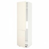 МЕТОД Высокий шкаф д/холод/мороз/2дверцы, белый, Хитарп белый с оттенком, 60x60x220 см