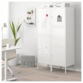 ХЭЛЛАН Комбинация для хранения с дверцами, белый, 90x47x167 см