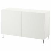 БЕСТО Комбинация для хранения с дверцами, белый, лаксвик/сталларп белый, 120x40x74 см
