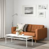 ЛАНДСКРУНА 2-местный диван, Гранн/Бумстад золотисто-коричневый/дерево