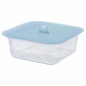 ИКЕА/365+ Контейнер для продуктов с крышкой, четырехугольной формы пластик, силикон, 750 мл