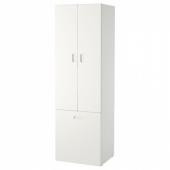 СТУВА / ФРИТИДС Гардероб с отделением д/игрушек, белый, белый, 60x50x192 см